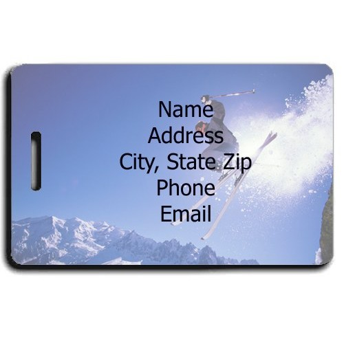 PERSONALIZED SKI LUGGAGE TAG