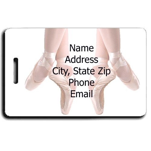 PERSONALIZED BALLET LUGGAGE TAGS