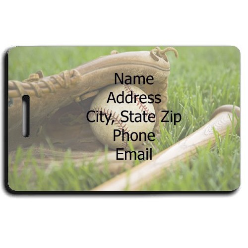 PERSONALIZED BASEBALL LUGGAGE TAGS