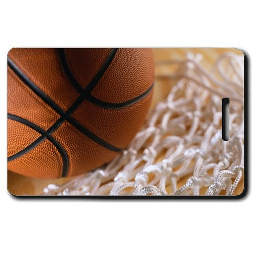 BASKETBALL PERSONALIZED LUGGAGE TAGS