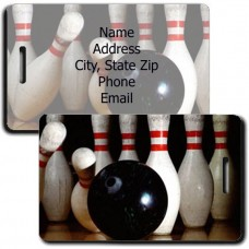 PERSONALIZED BOWLING LUGGAGE TAGS