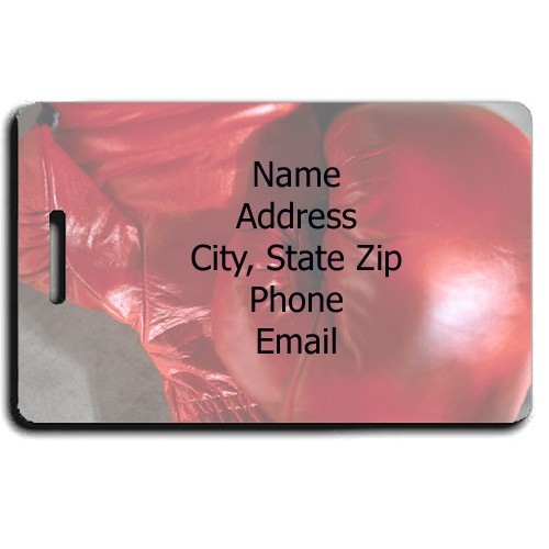 PERSONALIZED BOXING LUGGAGE TAGS