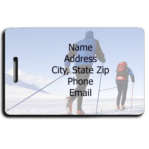 CROSS COUNTRY SKI PERSONALIZED LUGGAGE TAGS