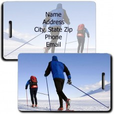 PERSONALIZED CROSS COUNTRY SKI LUGGAGE TAGS