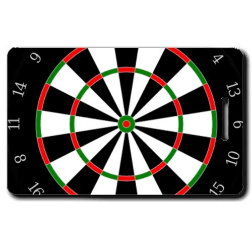 DART BOARD PERSONALIZED LUGGAGE TAGS