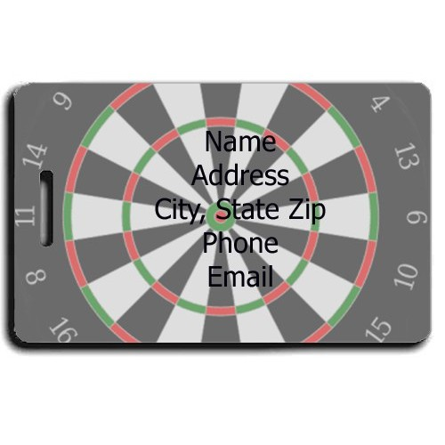 PERSONALIZED DARTS LUGGAGE TAGS