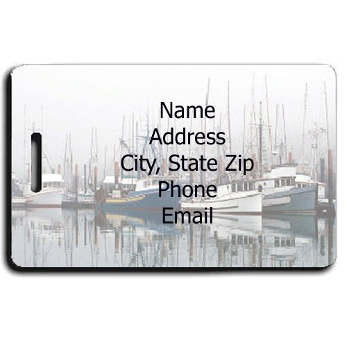 PERSONALIZED FISHING BOAT LUGGAGE TAGS