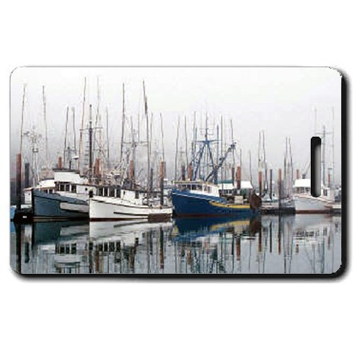 FISHING BOAT PERSONALIZED LUGGAGE TAGS