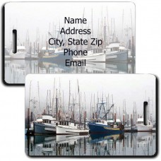 PERSONLAIZED FISHING BOAT LUGGAGE TAGS