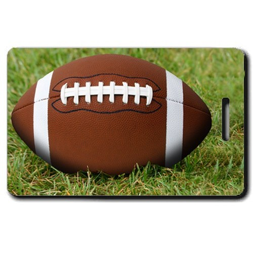 FOOTBALL PERSONALIZED LUGGAGE TAGS