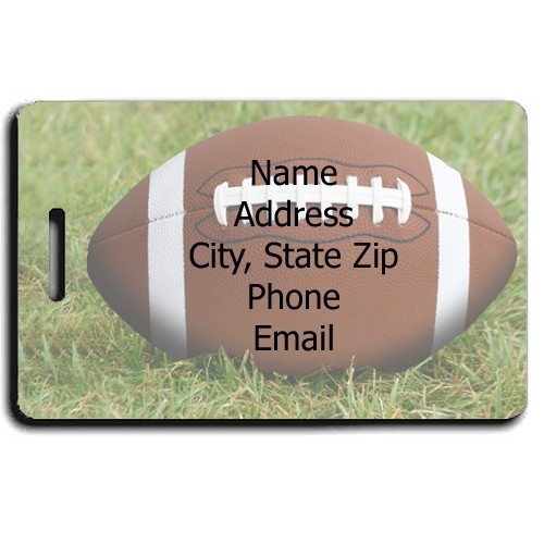 PERSONALIZED FOOTBALL LUGGAGE TAGS