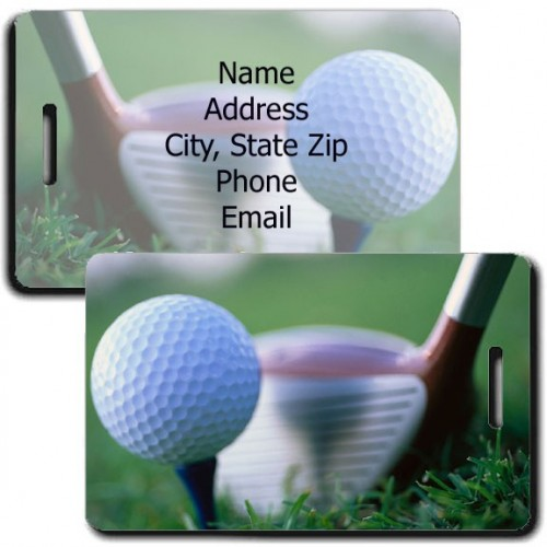 PERSONALIZED GOLF LUGGAGE TAGS