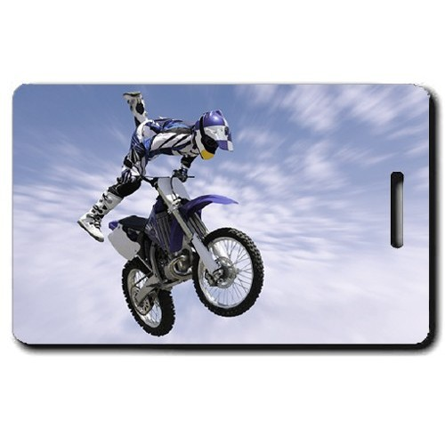 MOTOCROSS PERSONALIZED LUGGAGE TAGS