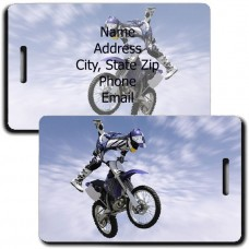 PERSONALIZED MOTOCROSS LUGGAGE TAGS