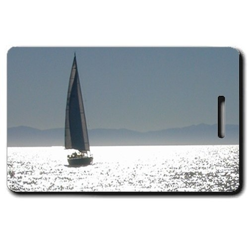 SAILBOAT PERSONALIZED LUGGAGE TAGS