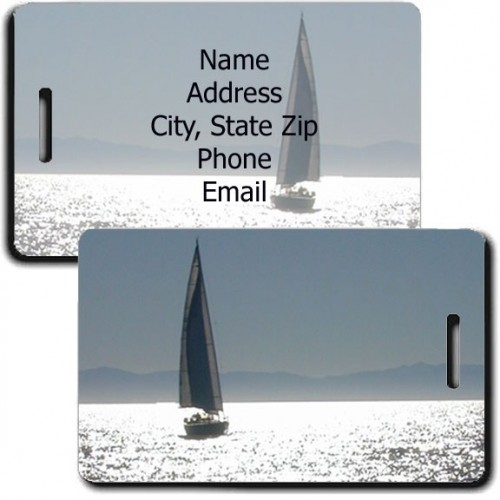 PERSONALIZED SAILBOAT LUGGAGE TAGS