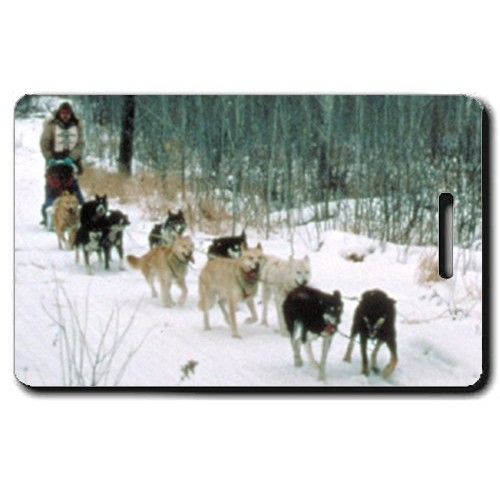 SLED DOG PERSONALIZED LUGGAGE TAGS