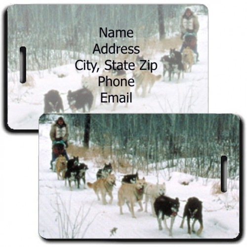 PERSONALIZED SLED DOG LUGGAGE TAGS
