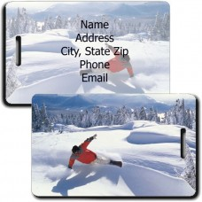 SNOWBOARDER LUGGAGE TAGS