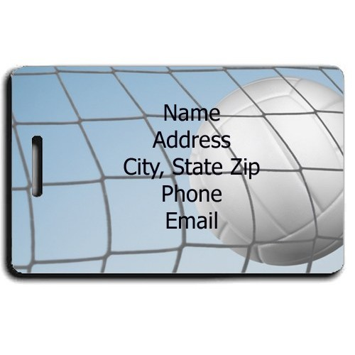PERSONALIZED VOLLEYBALL LUGGAGE TAG