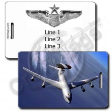 USAF E-3 SENTRY LUGGAGE TAGS WITH SENIOR NAVIGATOR WINGS