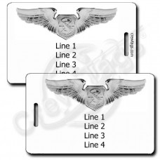 PERSONALIZED USAF AIR BATTLE MANAGER WINGS LUGGAGE TAGS