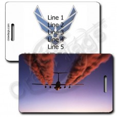 PERSONALIZED USAF C-141B STARLIFTER WITH AIR FORCE LOGO LUGGAGE TAGS
