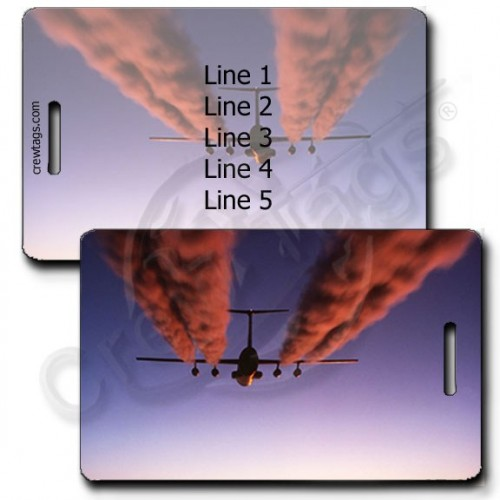 PERSONALIZED USAF C-141B STARLIFTER LUGGAGE TAGS