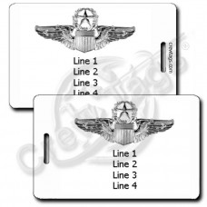 PERSONALIZED USAF F-15C EAGLE WITH COMMAND PILOT WINGS LUGGAGE TAGSUSAF COMMAND PILOT WINGS LUGGAGE TAGS