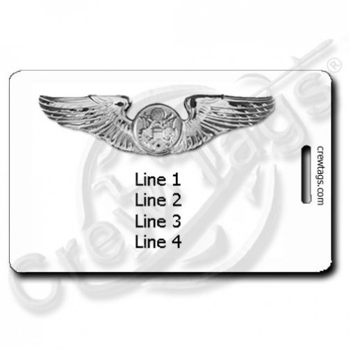 CUSTOM USAF ENLISTED AIRCREW WINGS LUGGAGE TAGS
