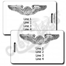 PERSONALIZED USAF ENLISTED AIRCREW WINGS LUGGAGE TAGS