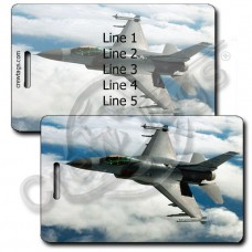 PERSONALIZED USAF F-16 FIGHTING FALCON LUGGAGE TAGS