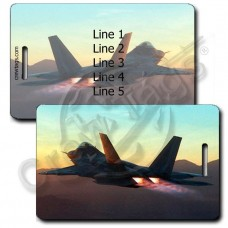 PERSONALIZED USAF F-22 RAPTOR LUGGAGE TAGS