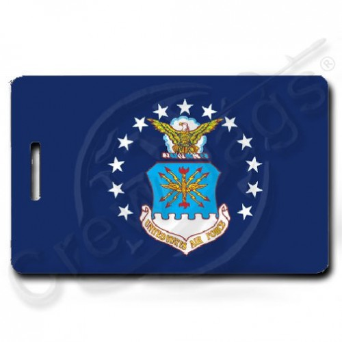 USAF FLAG PERSONALIZED LUGGAGE TAGS