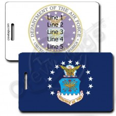 USAF FLAG LUGGAGE TAGS