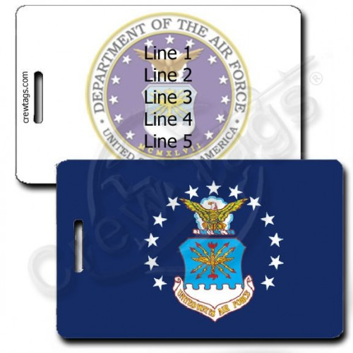 PERSONALIZED USAF FLAG LUGGAGE TAGS