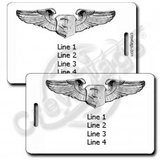 PERSONALIZED USAF FLIGHT NURSE WINGS LUGGAGE TAGS