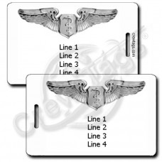 PERSONALIZED USAF FLIGHT SURGEON WINGS LUGGAGE TAGS