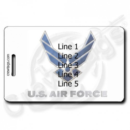 USAF PERSONALIZED LUGGAGE TAGS