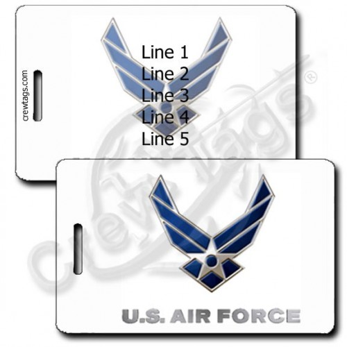 PERSONALIZED UNITED STATES AIR FORCE LUGGAGE TAGS
