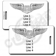 PERSONALIZED USAF NAVIGATOR OBSERVER WINGS LUGGAGE TAGS