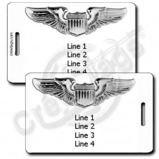 PERSONALIZED USAF PILOT WINGS LUGGAGE TAGS