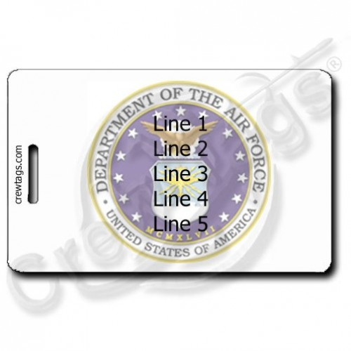 USAF SEAL LUGGAGE TAGS PERSONALIZED