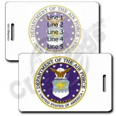 PERSONALIZED USAF SEAL LUGGAGE TAGS