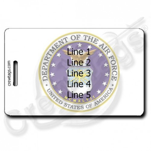 USAF PERSONALIZED SEAL LUGGAGE TAG