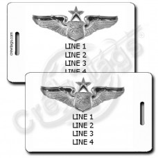 USAF SENIOR NAVIGATOR WINGS LUGGAGE TAGS