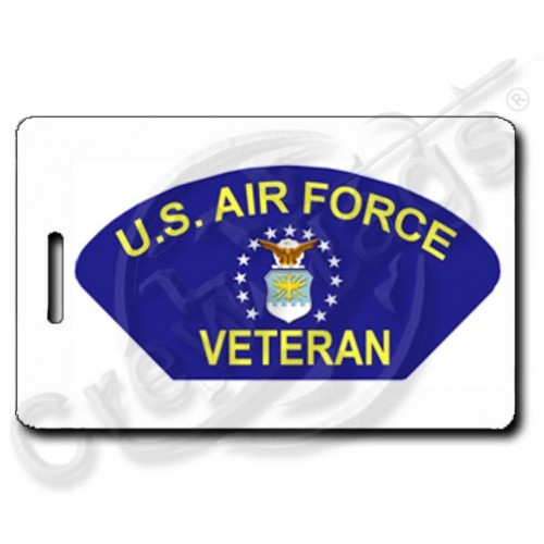 USAF VETERAN PERSONALIZED LUGGAGE TAGS