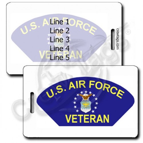 PERSONALIZED USAF VETERAN LUGGAGE TAGS