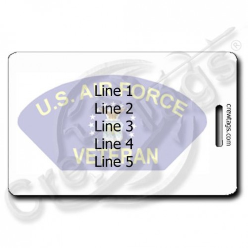 USAF VETERAN LUGGAGE TAGS PERSONALIZED