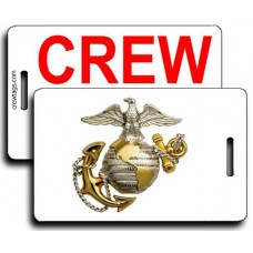 USMC Eagle Globe Anchor CREW Tag